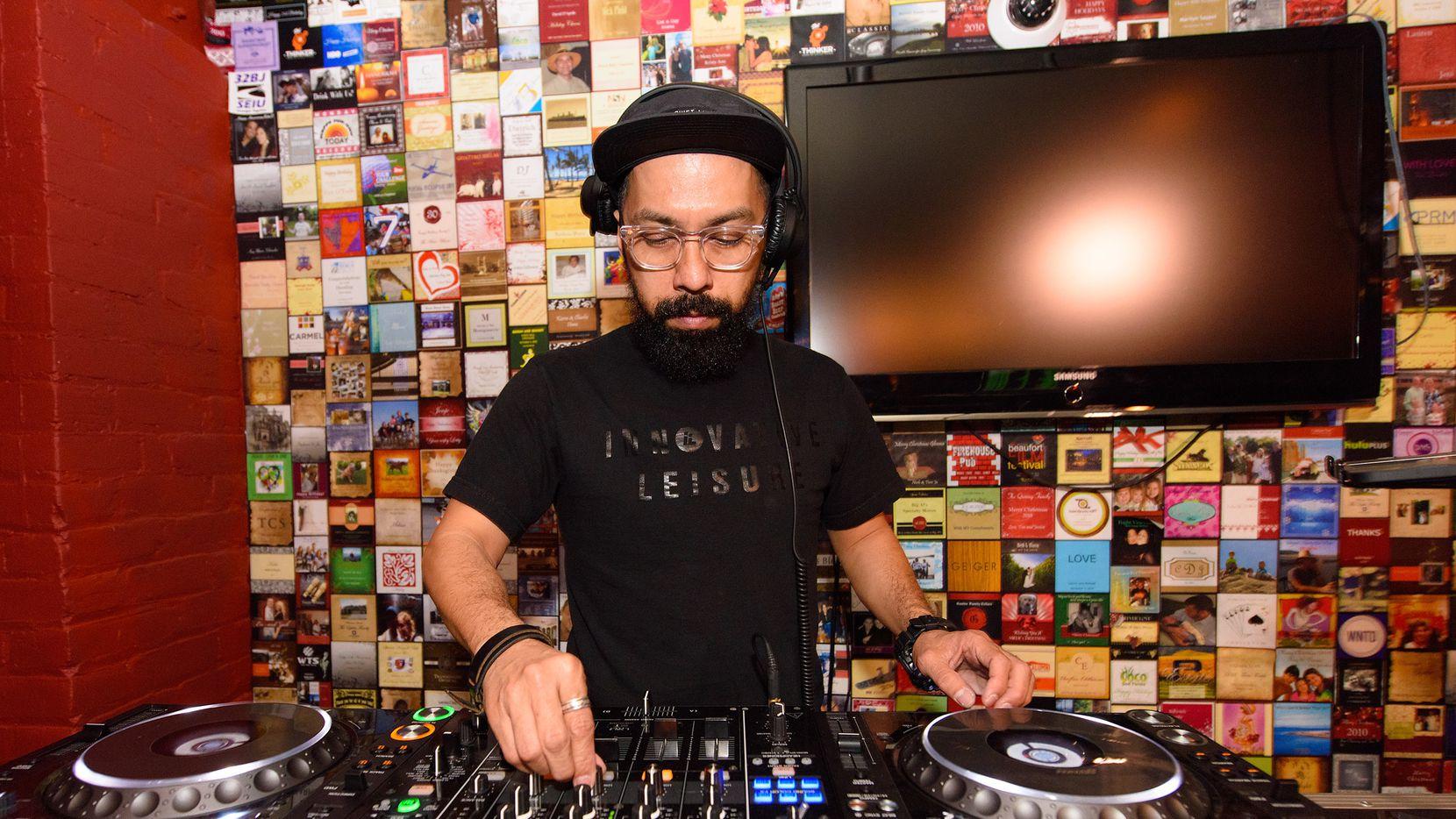 Austin-based DJ Mel spinning at SXSW 2015.