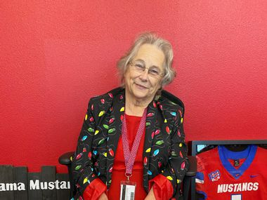 "Jerry Ann Muehlstein, affectionately called ""Mama Mustang,"" is retiring after 41 years with the Grapevine-Colleyville Independent School District. She has served in various roles, most recently as the receptionist at Grapevine High School."