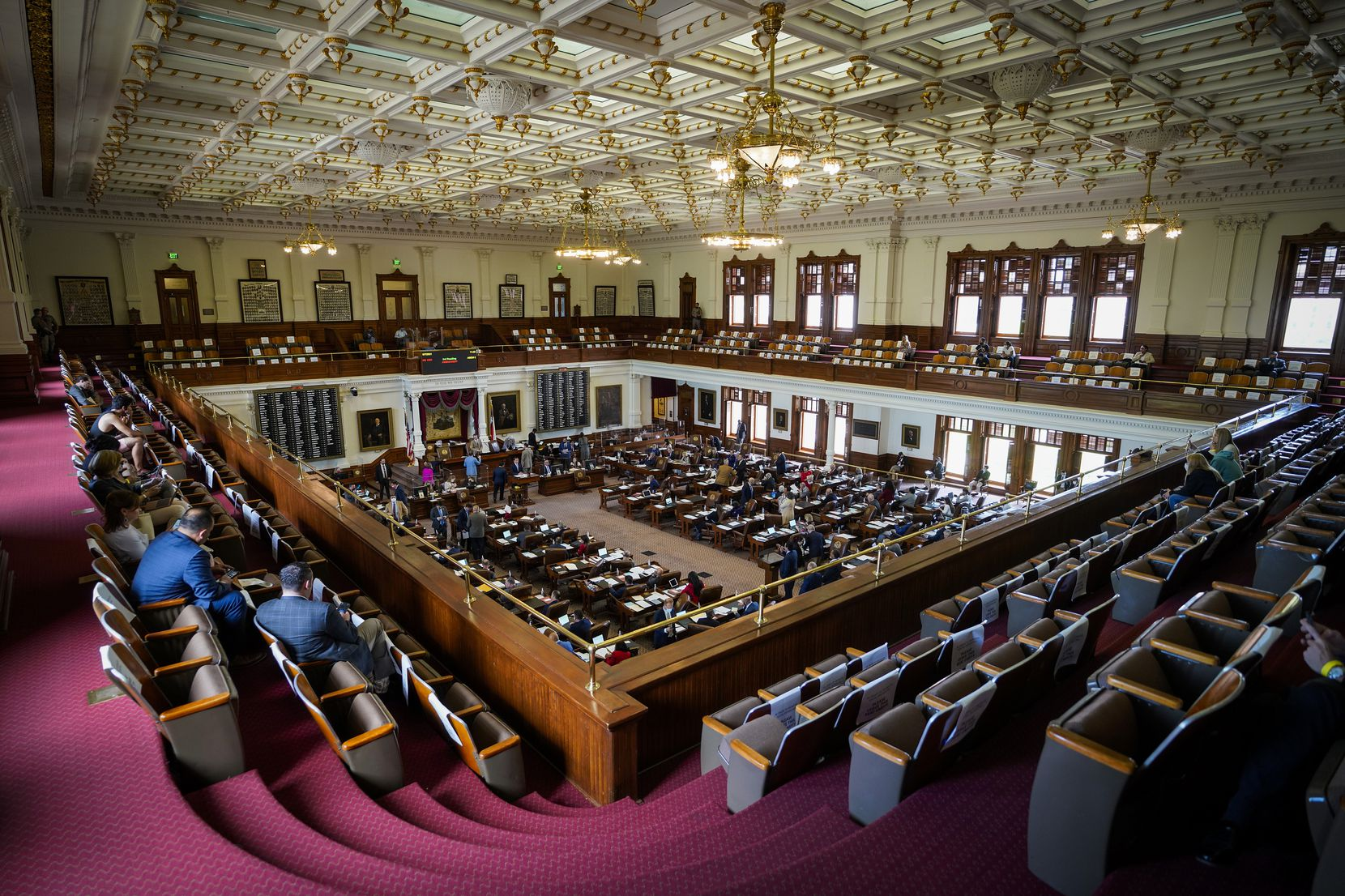 A general view of the House Chamber at the Texas Capitol during the 87th Texas legislature on Friday, May 7, 2021, in Austin. (Smiley N. Pool/The Dallas Morning News)