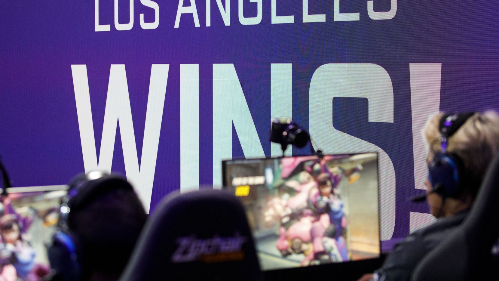 The Dallas Fuel loses the third round during the Overwatch League match between the Dallas Fuel and LA Gladiators on Friday, August 9, 2019 at Blizzard Arena in Burbank, CA. (Photo by Patrick T. Fallon/Special Contributor to The Dallas Morning News)