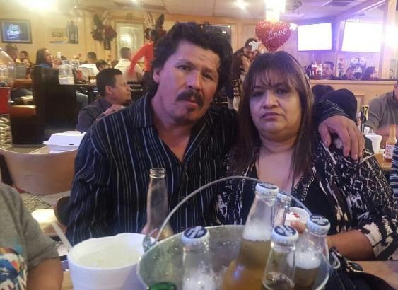 Jacinto Mireles and wife Audelia Sandoval marking Valentine's Day 2018 in Dallas. Mireles worked multiple jobs to support his family and was known for working every day except on his birthday and during bad weather.