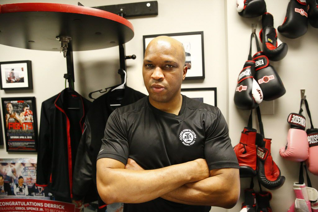 Boxing trainer Derrick James poses for a portrait at The Cooper Fitness Center in Dallas on Jan. 10, 2018 .  James trained Errol Spence, IBF welterweight champion. (Nathan Hunsinger/The Dallas Morning News)