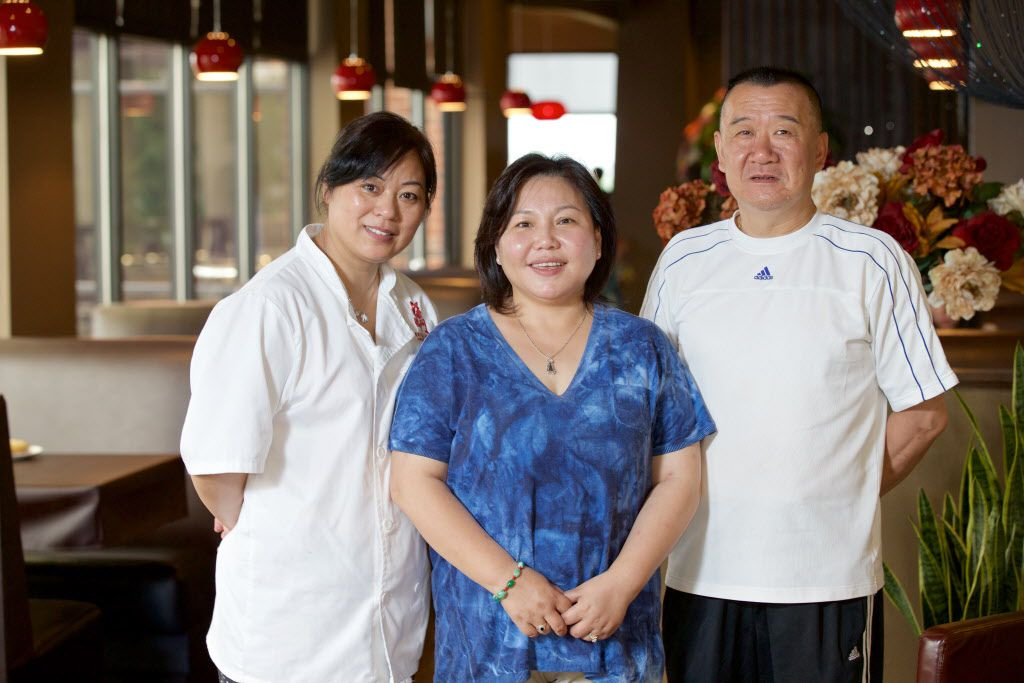 Fortune House owner Lucy Yong, center, with pastry and dumpling chef Zou Guifeng, left, and executive chef Ren Guoquing