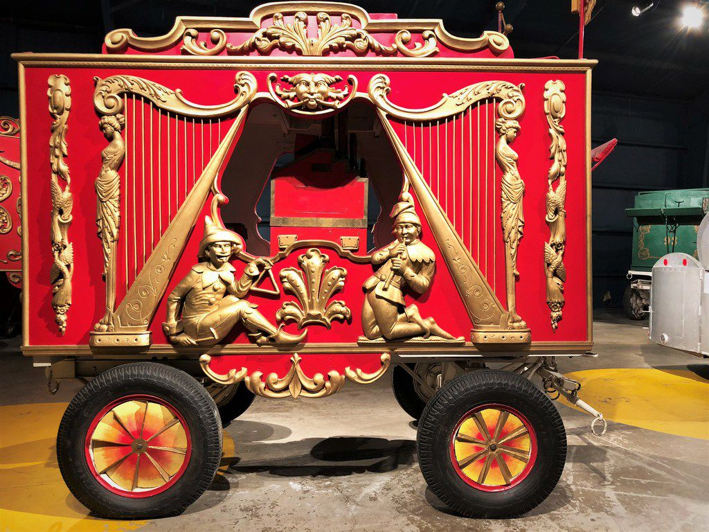 Museum visitors can get up close and personal with original circus train cars used in the Ringling Bros. Circus.