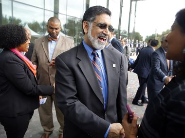 Vistasp Karbhari will step down as president of the University of Texas at Arlington effective Aug. 31. (Tom Fox/The Dallas Morning News)