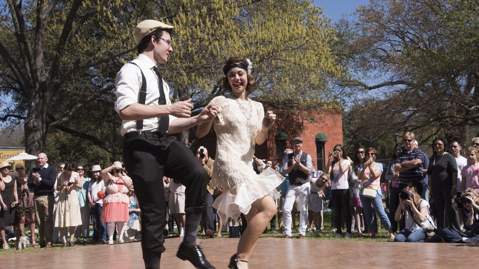 Dancers perform at Dallas Heritage Village.