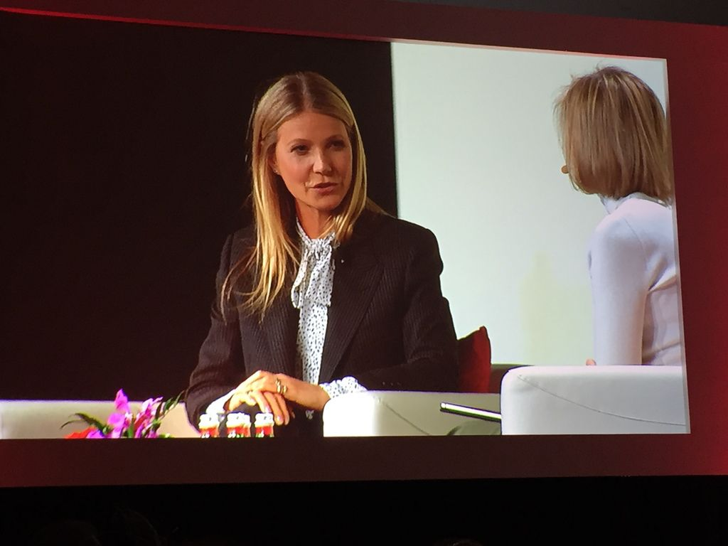 Gwyneth Paltrow speaks at the National Retail Federation meeting in New York.