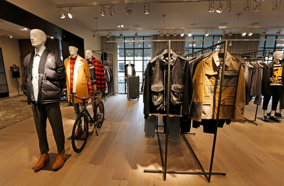 The Men's section of Forty Five Ten, a new four-level store in downtown Dallas, photographed on Friday, November 11, 2016. (Louis DeLuca/The Dallas Morning News)
