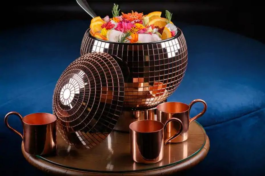 The Dorsey offers Disco Punch Bowls featuring Laurent-Perrier, Dom Perignon, Patron Tequila and Absolut Elyx.