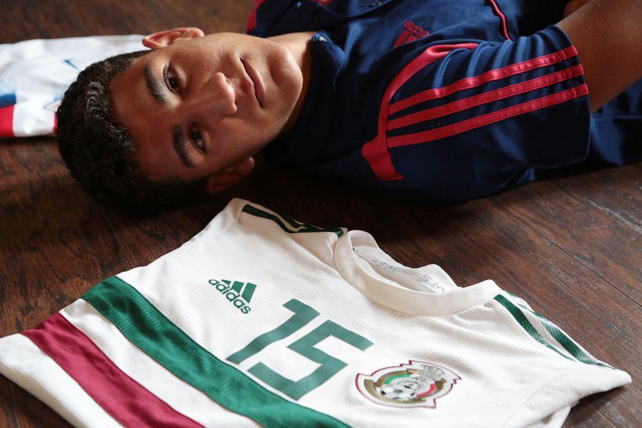 Nicolás Carrera, jugador Sub-17 de México y Estados Unidos.