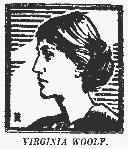 Illustration of Virginia Woolf that accompanied the review of her novel To the Lighthouse in the May 22, 1927, edition of The Dallas Morning News
