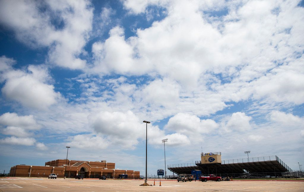 The athletic complex and football stadium at Community High School in Community ISD on Monday, July 24, 2017 in Nevada, Texas. Just like many rural school districts, CISD is struggling to get new teacher applicants.