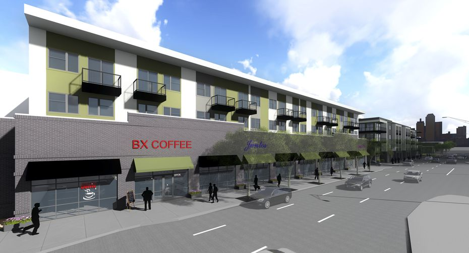 The Broadstone apartments under construction on West Commerce Street will open next fall.