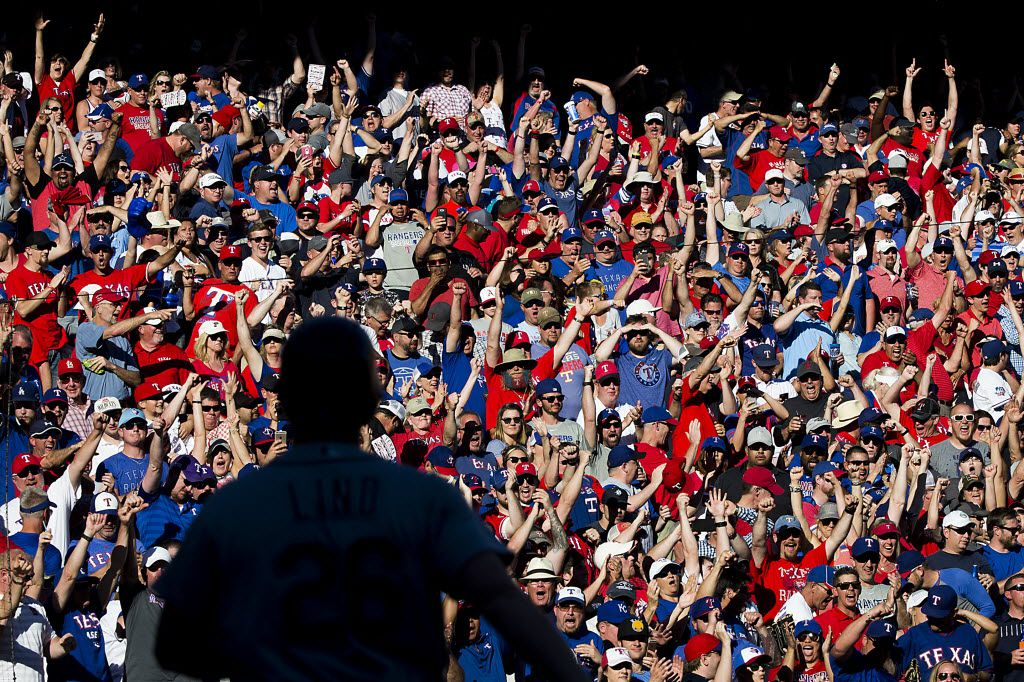 A packed Globe Life Park for the Texas Rangers' 2016 home opener. If the team's new stadium has a capacity of 42,000, there would be thousands fewer fans in the stands when it opens. (Smiley N. Pool/Staff Photographer)
