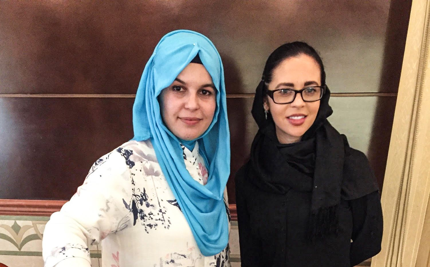 Fariha Easer with the author, Hollie McKay.