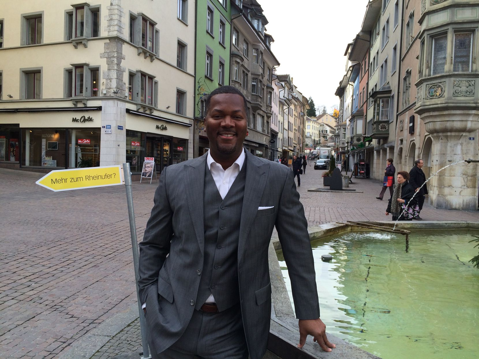 """Dennis Cail, co-founder and CEO of Zirtue, is shown on a business trip to Zurich, Switzerland. He says it's """"equally important for white people in Dallas to be inclusive as it is for Black people to invest in themselves and each other."""""""