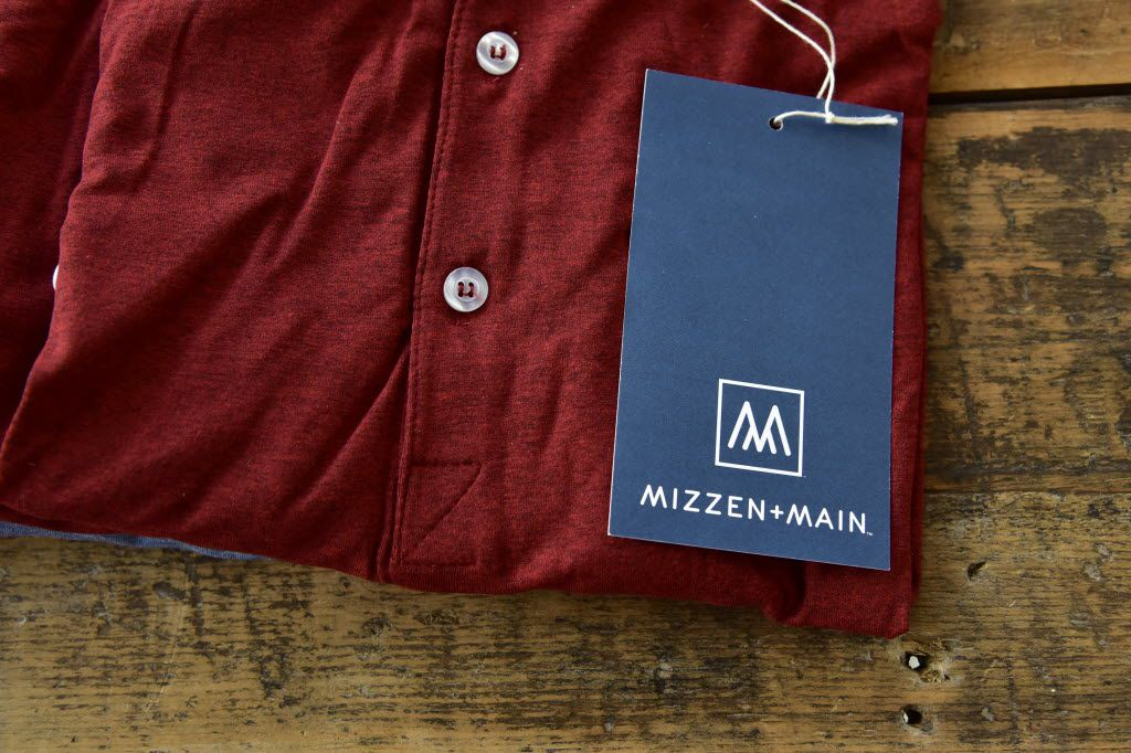 Mizzen+Main's menswear is sold online, in luxury stores like Stanley Korshak and in specialty stores like golf boutiques. The brand's signature item is a sweat-wicking dress shirt that costs $125.