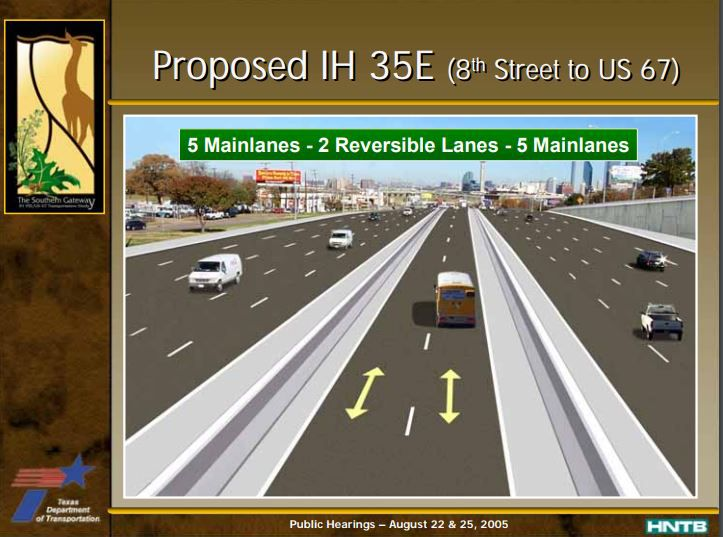 The proposed expansion of the lanes near the Dallas Zoo.