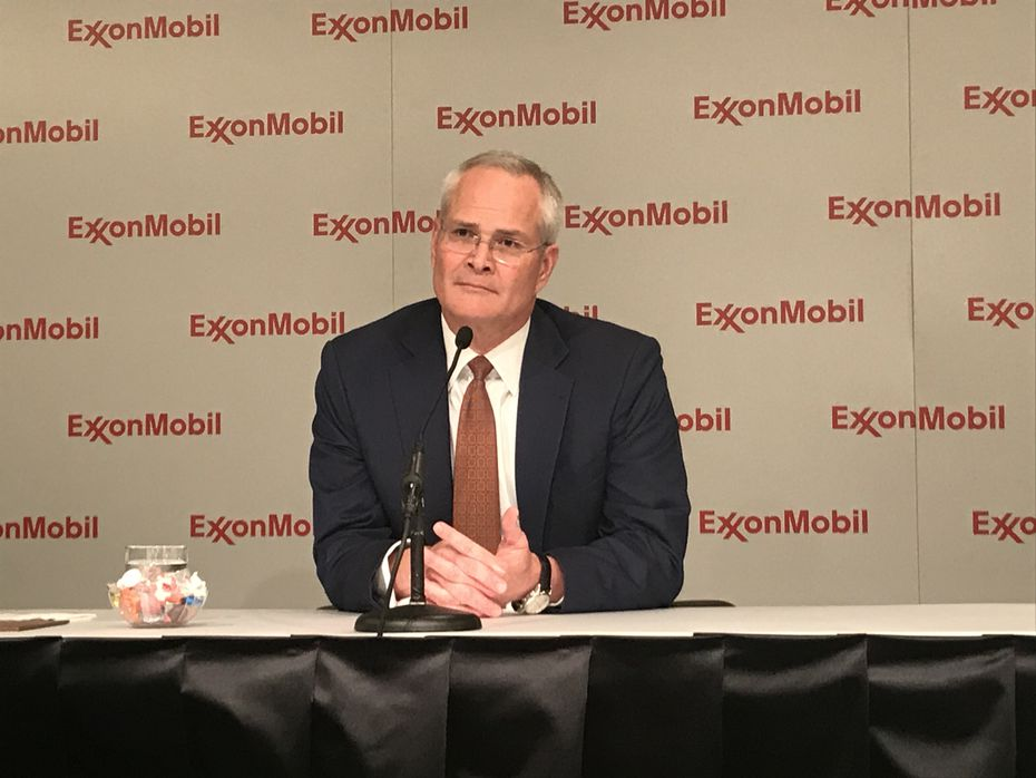 Exxon CEO Darren Wood presided over his first annual shareholder meeting Wednesday. He took the helm after Rex Tillerson became secretary of state.