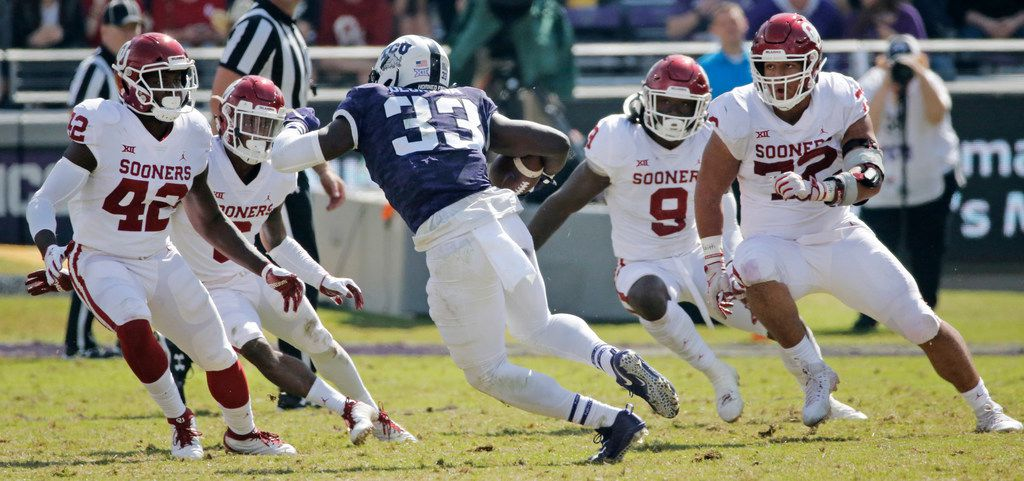 The TCU Horned Frogs will have to make a miracle or two happen to knock off Oklahoma Saturday in Norman. (Louis DeLuca/The Dallas Morning News)