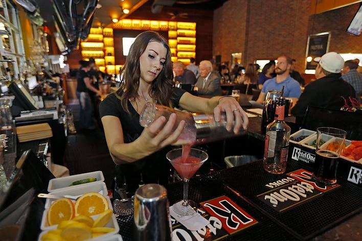 In addition to moonshine, Mash'd has a full bar with wine, beer and spirits.