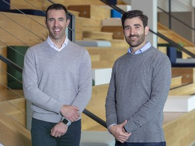 Michael Walsh (left) and Steven Theesfeld are co-founders of health care technology company Cariloop. Walsh is the company's CEO, and Theesfeld is chief integrity officer.