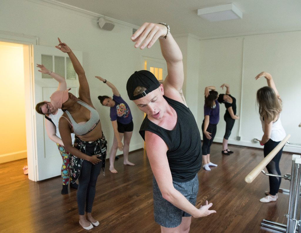 Austin Lintner teaches a Beyonce-inspired ballet class at Arts Mission Oak Cliff. It's a popular offering where small groups of dancers can sharpen their ballet skills to the pop star's greatest hits.
