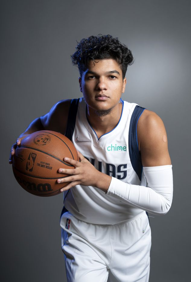 Dallas Mavericks guard Tyrell Terry (1) poses for a portrait during the Dallas Mavericks media day, Monday, September 27, 2021 at American Airlines Center in Dallas. (Jeffrey McWhorter/Special Contributor)