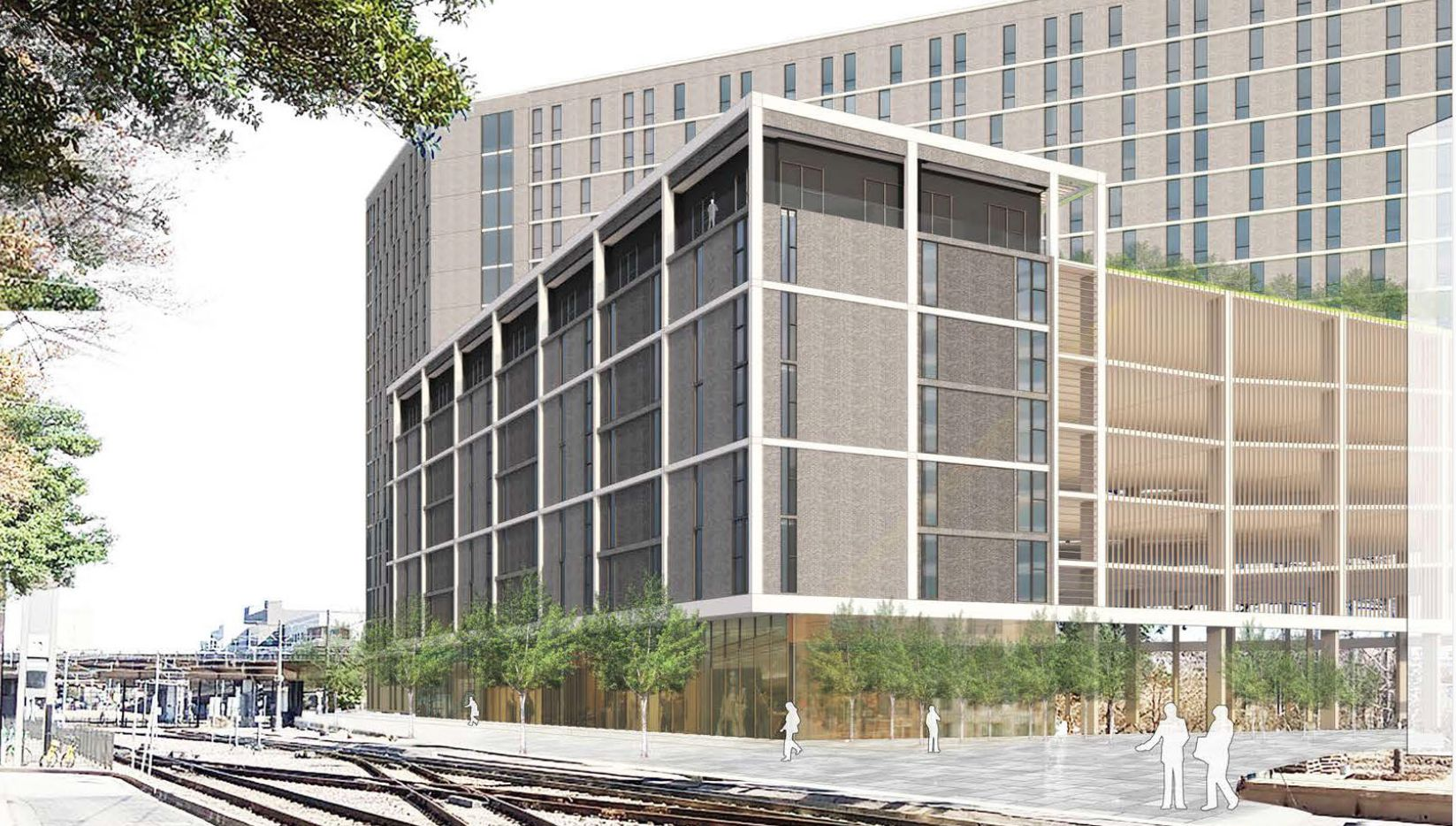 About half of the apartments in the planned 2400 Bryan tower are to be affordable units.