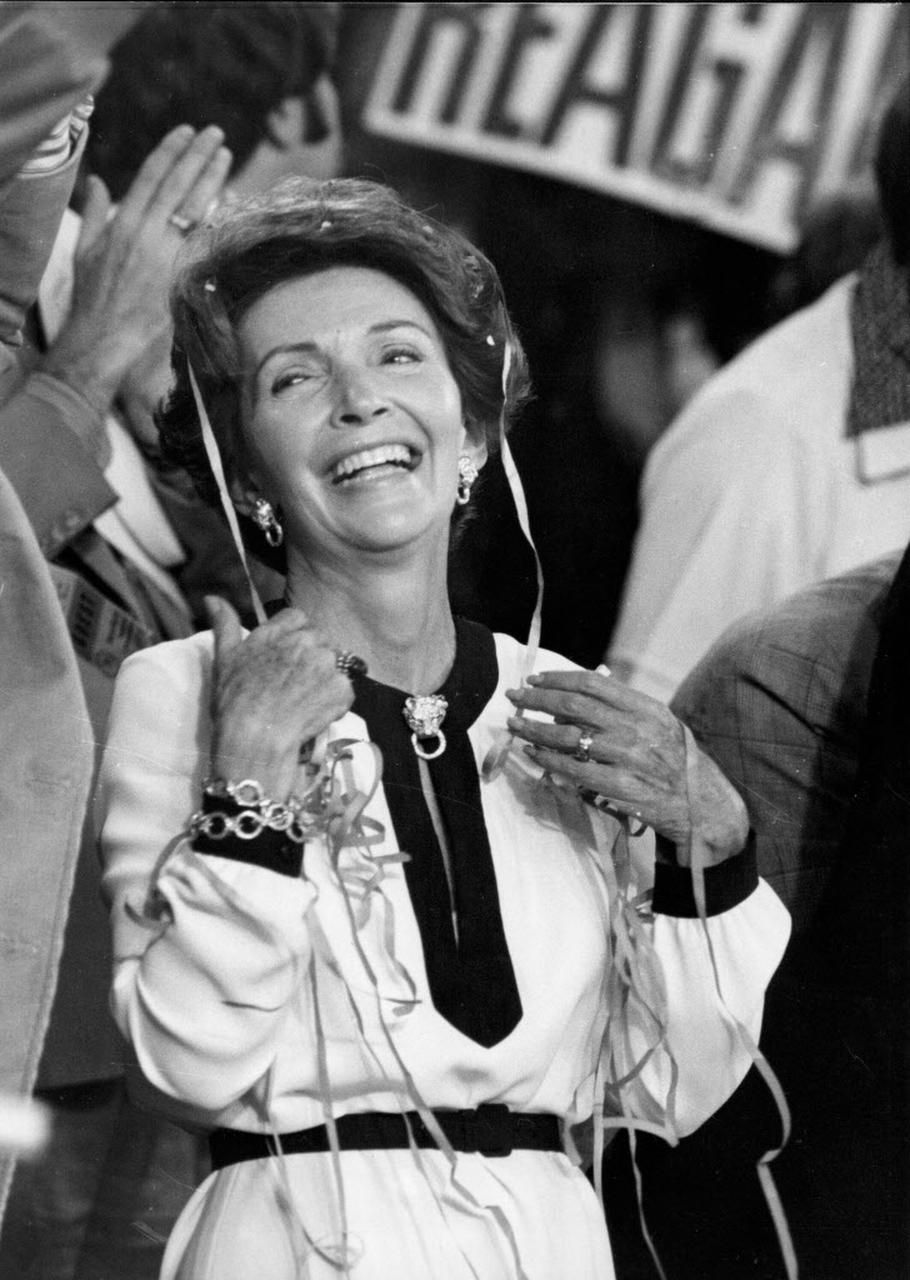 Nancy Reagan at the Republican National Convention in Kansas City, Mo., in August 1976.