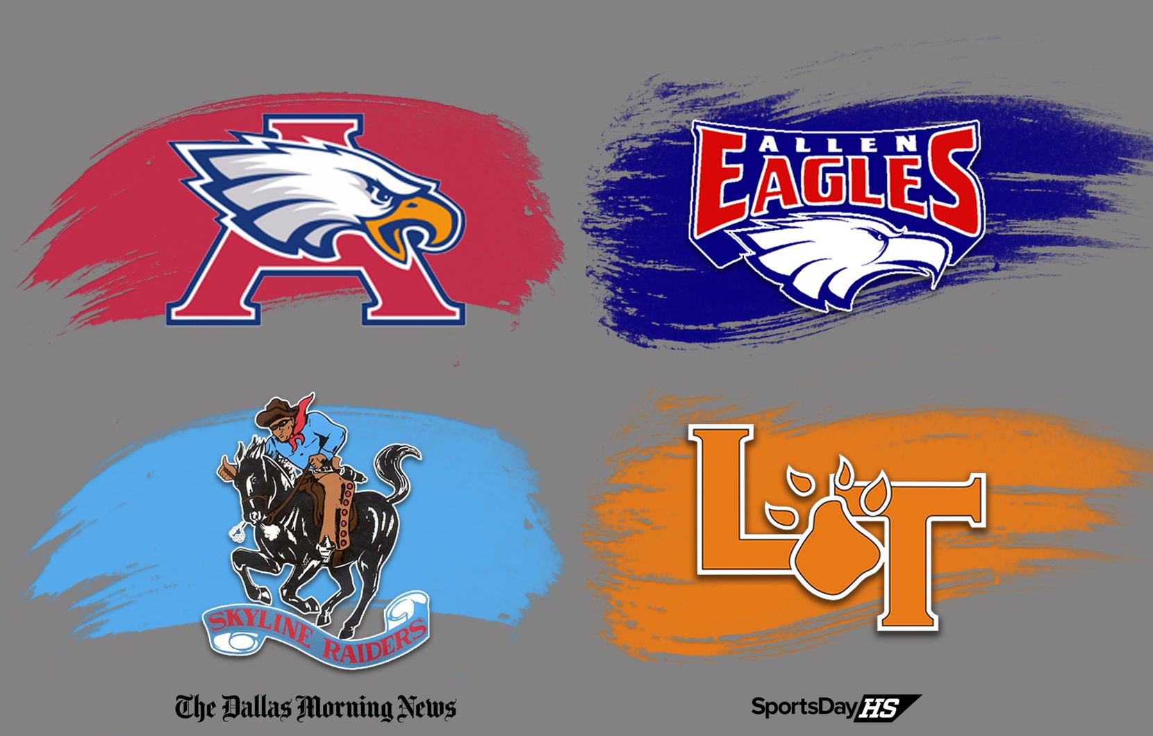 Humble Atascocita (top left) vs. Allen (top right) and Skyline (bottom left) vs. Lancaster (bottom right) are two nondistrict games to keep an eye on in the 2020 season.