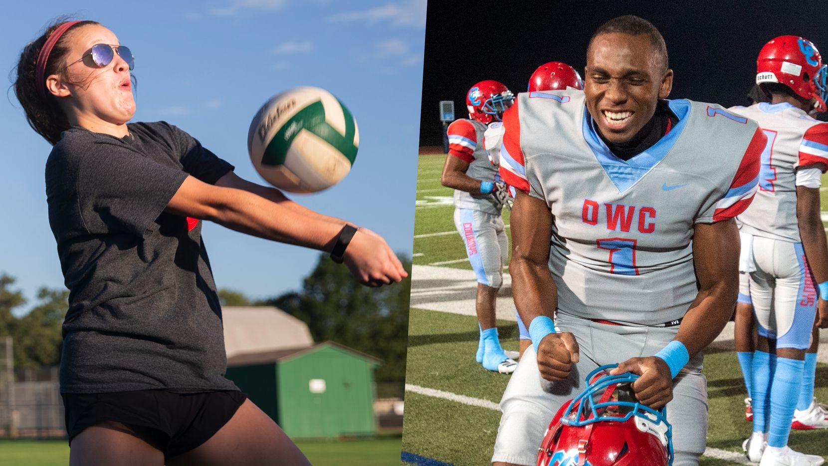 Arlington's Tatum Torres (left) and Carter's Kace Williams (right).