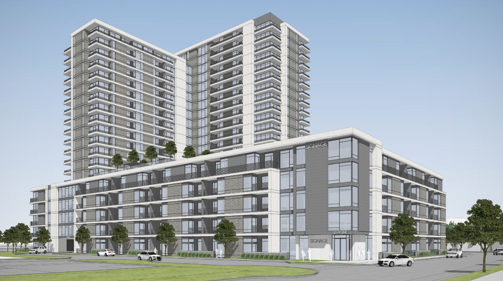 The project would include 481 rental units.