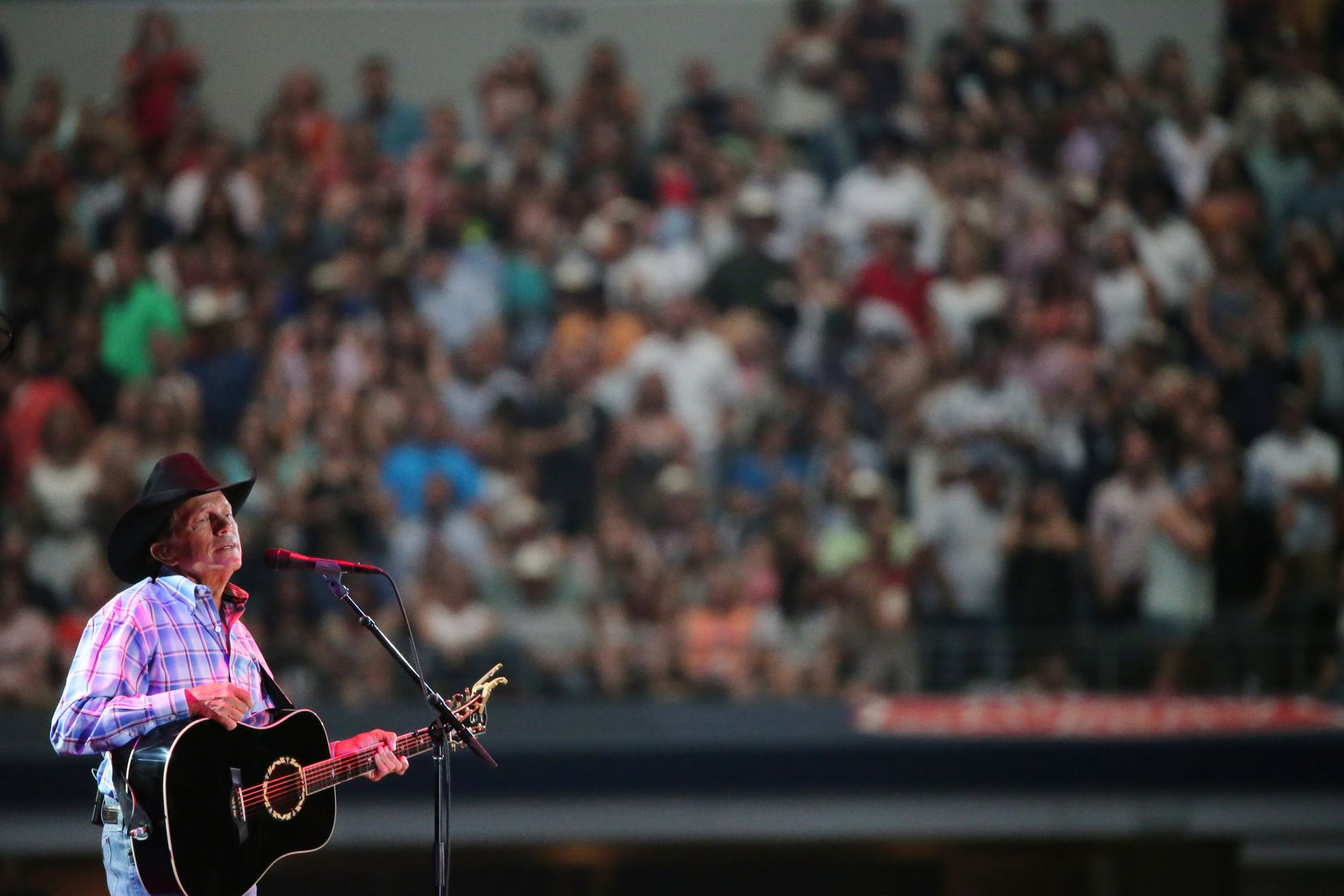 George Strait plays the last show of what was billed as his final tour at AT&T Stadium in Arlington, Texas on June 7, 2014.