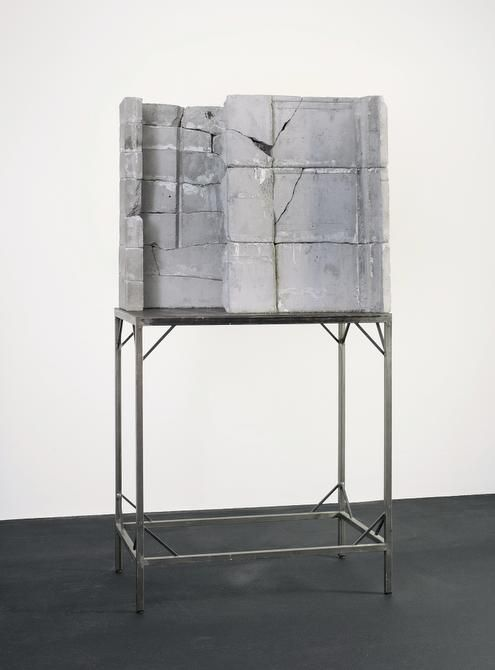 Door (T r), 1988 Isa Genzken Concrete and steel Overall: 93 x 28 x 46 3/4 in. (2 m 36.221 cm x 71.12 cm x 118.745 cm) The Rachofsky Collection and the Dallas Museum of Art through the DMA/amfAR Benefit Auction Fund Isa Genzken
