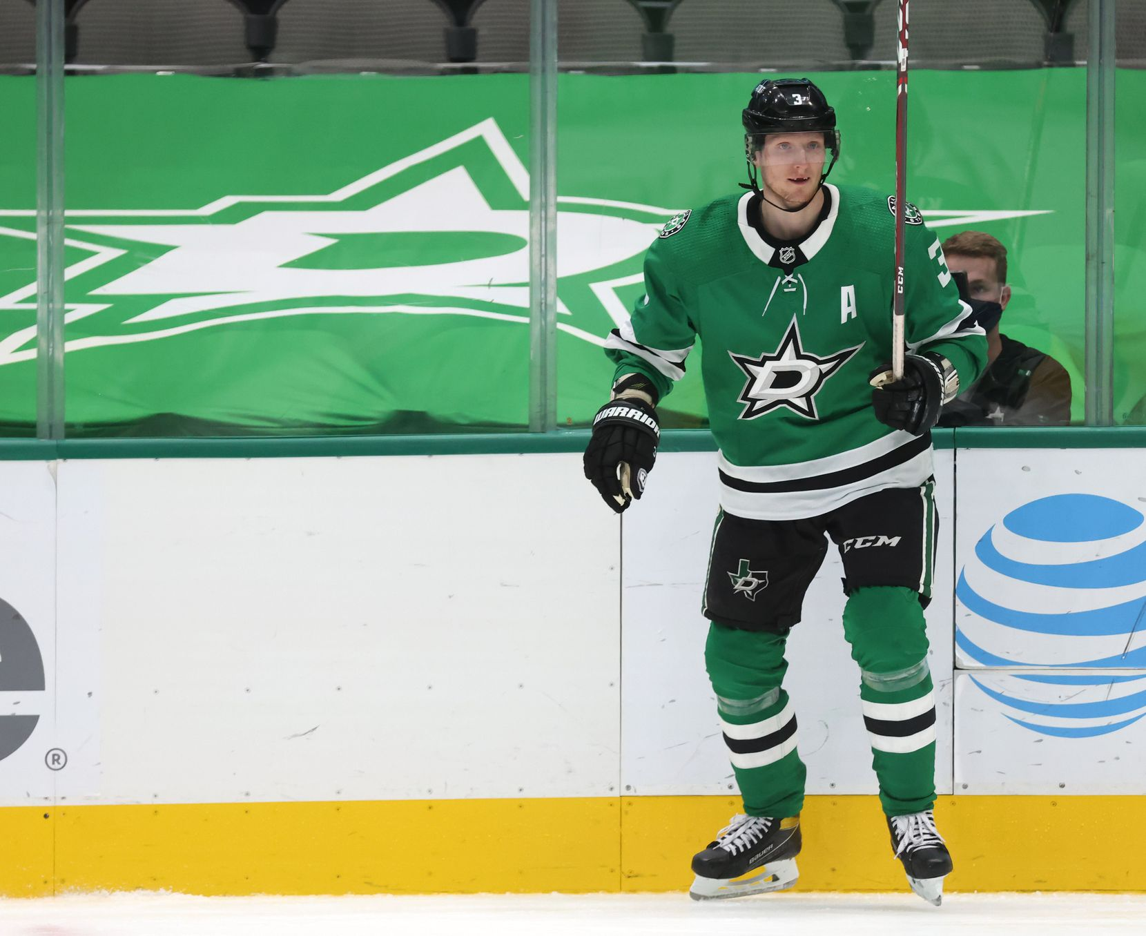 Dallas Stars defenseman John Klingberg (3) in a game against the Detroit Red Wings during the second period of play at American Airlines Center on Tuesday, January 26, 2021in Dallas. (Vernon Bryant/The Dallas Morning News)