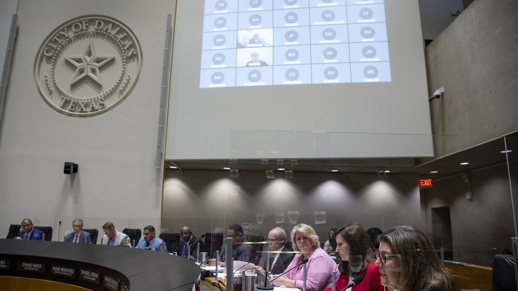 Dallas City Council Member Jaynie Schultz, District 11, makes a comment during a city council meeting at Dallas City Hall on Wednesday, September 22, 2021 in Dallas, Texas. (Emil Lippe/Special Contributor)