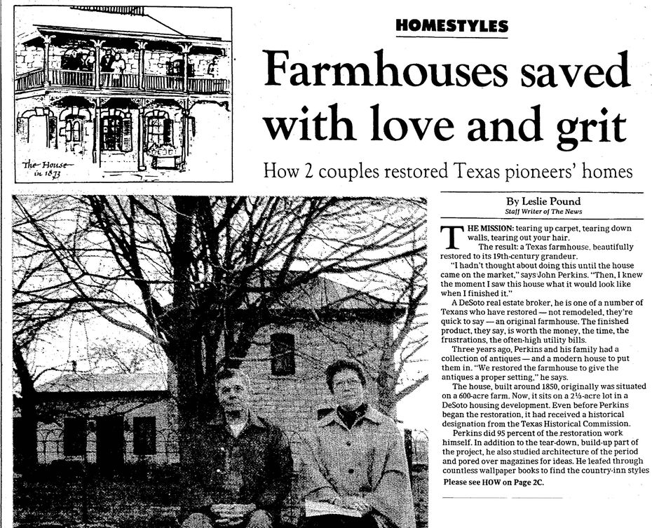 Clipping from  January 7, 1984 for The Dallas Morning News.