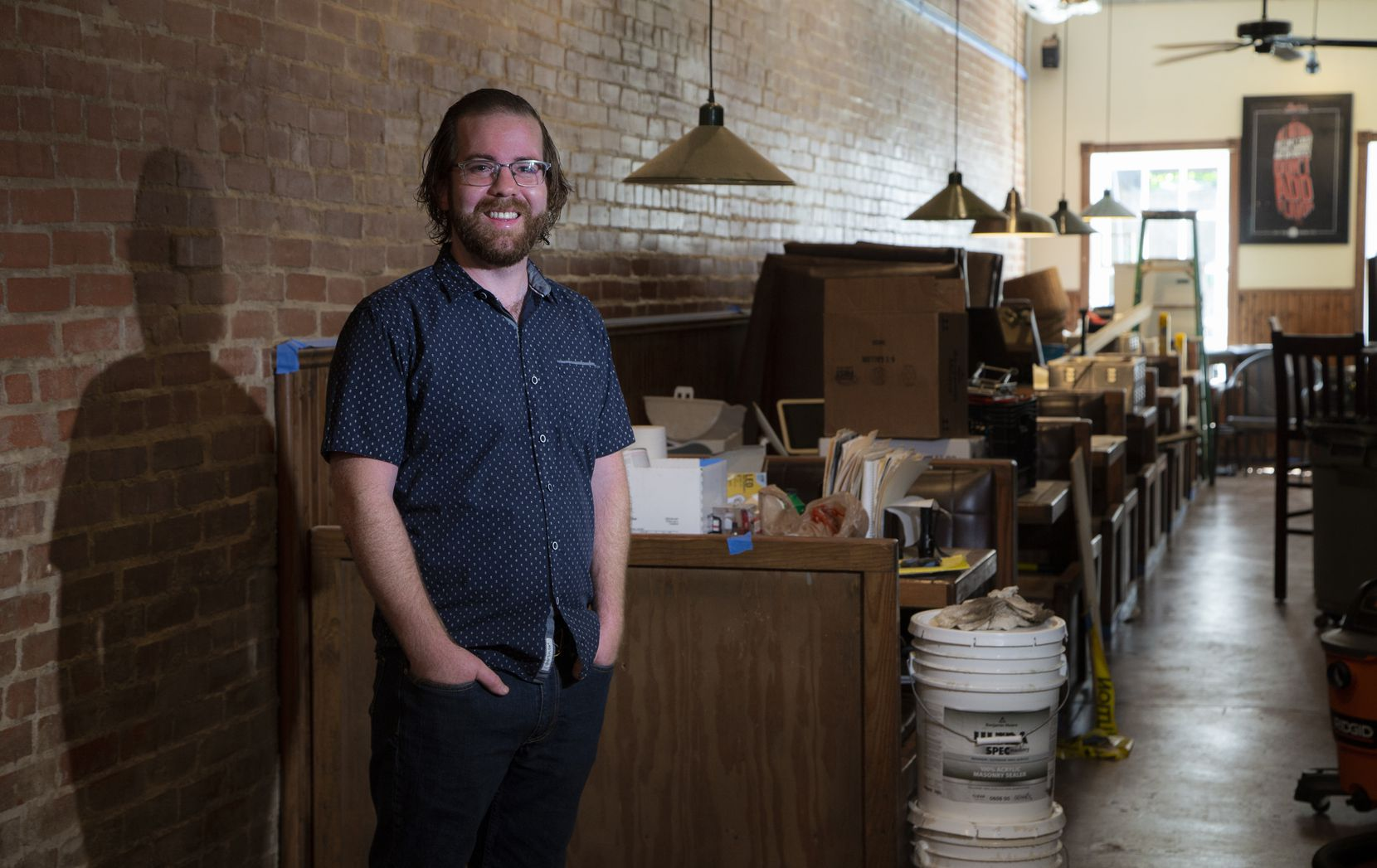 Mark Wootton, General Manager and Chef, poses for a photo inside of Garden Cafe in Old East Dallas, currently under renovations, Saturday, June 19, 2021. (Brandon Wade/Special Contributor)