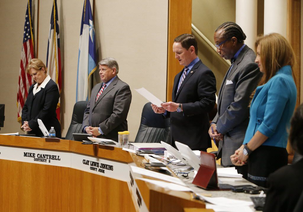 """Dallas County Commissioners are poised to approve what County Judge Clay Jenkins (center) calls """"the largest tax burden increase in the history of Dallas County."""" Other governments are doing the same, and DallasNews.com Watchdog Dave Lieber calls them all out. (David Woo/The Dallas Morning News)"""