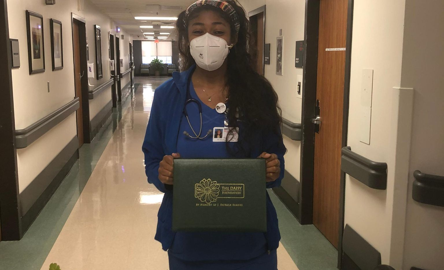 Indigo Dillard, an oncology nurse at Medical City Arlington and a 2014 graduate of DeSoto High School, was recently honored for going above and beyond in her work.
