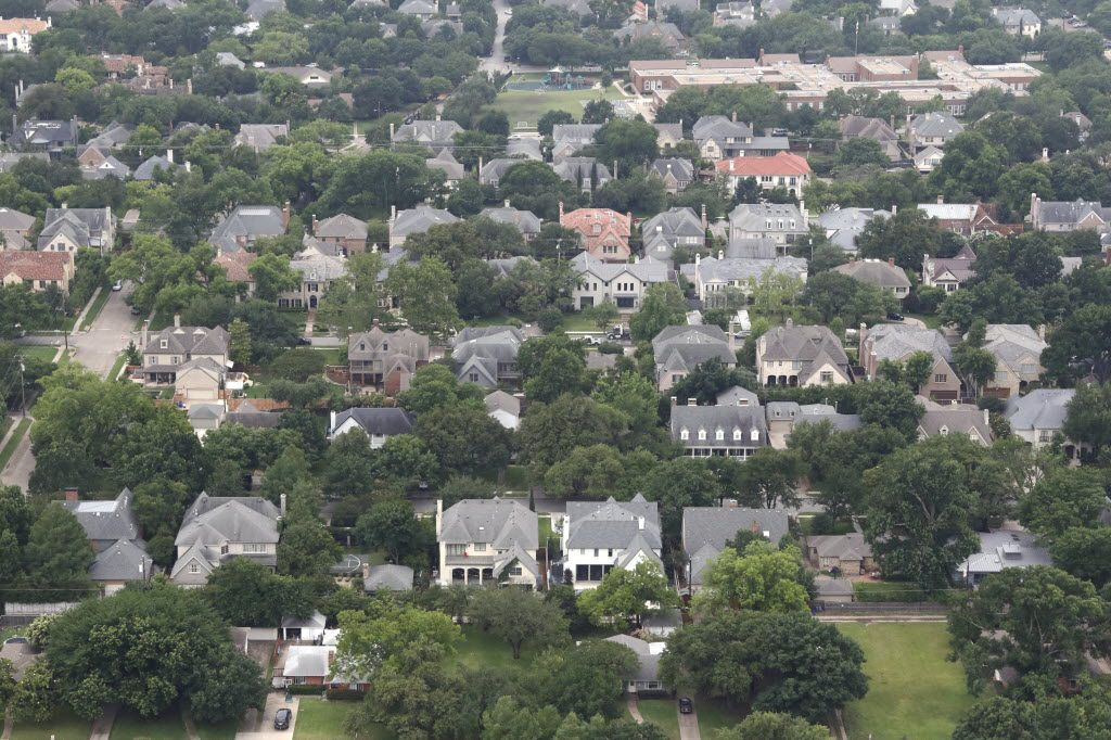 Home values have spiked across Dallas County like this neighborhood near University Park. Photo taken on Wednesday, May 25, 2016. (David Woo/The Dallas Morning News) )