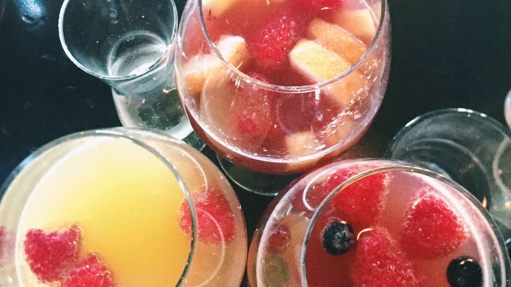 Every mimosa can be different when you customize your buzz at Henry's Majestic.