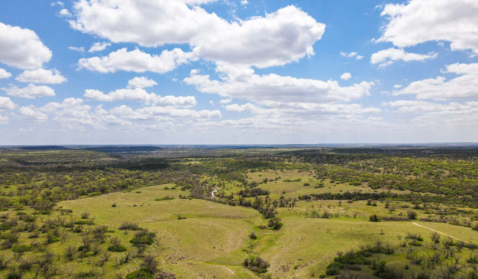 The almost 9,400-acre Tecumseh Ranch is near the town of Throckmorton.