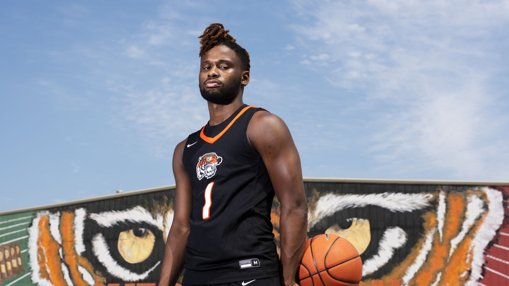 Lancaster senior Mike Miles, the 2020 SportsDayHS boys basketball player of the year, is pictured on March 26, 2020, at Lancaster High School. (Ben Torres/Special Contributor)