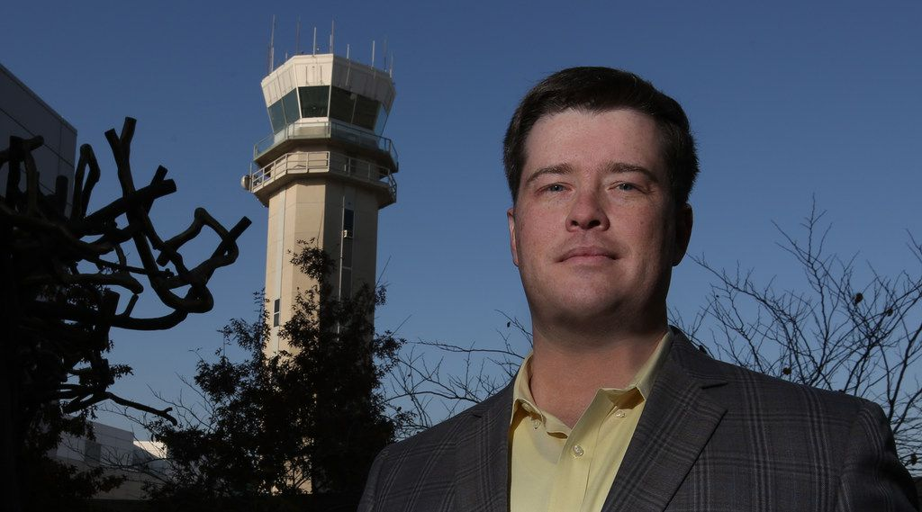 Dallas Love Field air traffic controller and pilot Brian Kelly, who helped during Operation Airdrop earlier this year, is pictured at Love Field on Wednesday, Dec. 20, 2017.