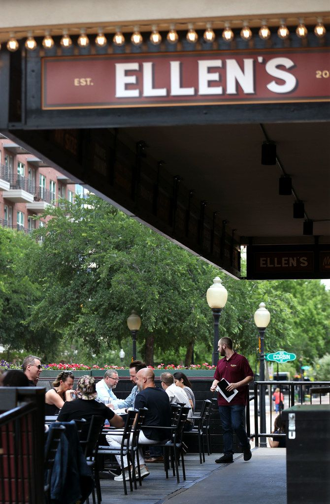 The patio area of Ellen's was bustling Friday afternoon.