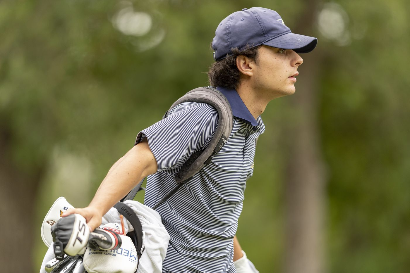 KellerÕs Jackson Naeger walks to his ball on the 1st hole during the final round of the UIL Class 6A boys golf tournament in Georgetown, Tuesday, May 18, 2021. (Stephen Spillman/Special Contributor)