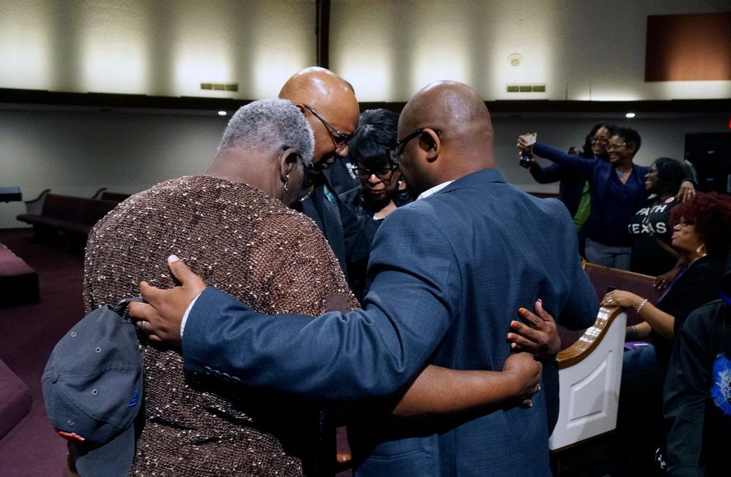 Prayer went on throughout the Black Clergy Rally at City Temple Seventh Day Adventist Church in Dallas, Texas on Tuesday, April 23, 2019. Several groups came together at the rally in support of the city councils upcoming vote on paid sick leave for Dallas employees. (Lawrence Jenkins/Special Contributor)