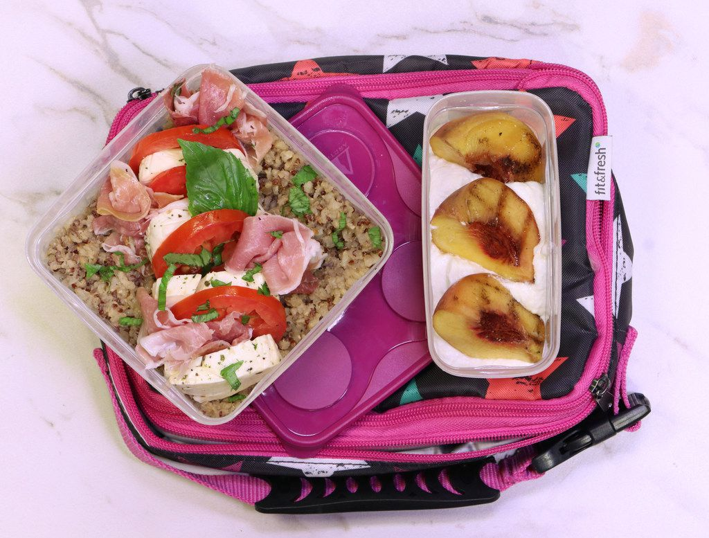 Caprese with Quinoa bento box